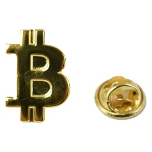 Bitcoin Pin gold