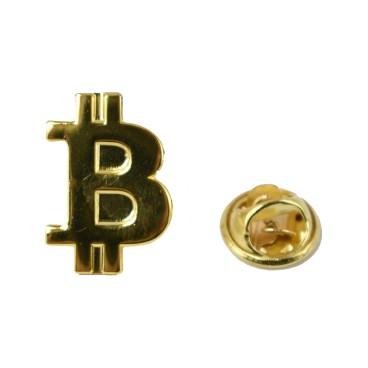 Przypinka Bitcoin Złota