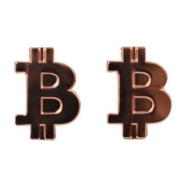 Przypinka Bitcoin Brązowa