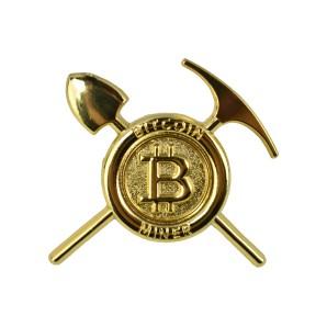 Przypinka Bitcoin Miner Złota
