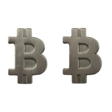 Przypinka Bitcoin Srebrna Matowa