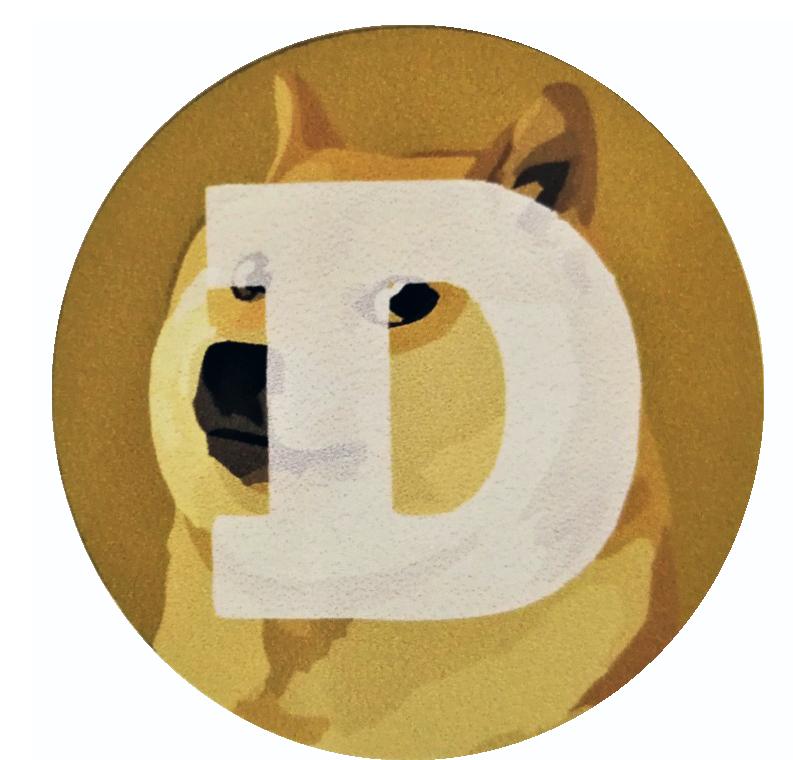 Naklejka Dogecoin