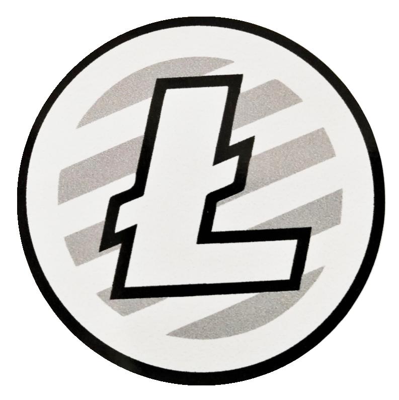 Naklejka Litecoin