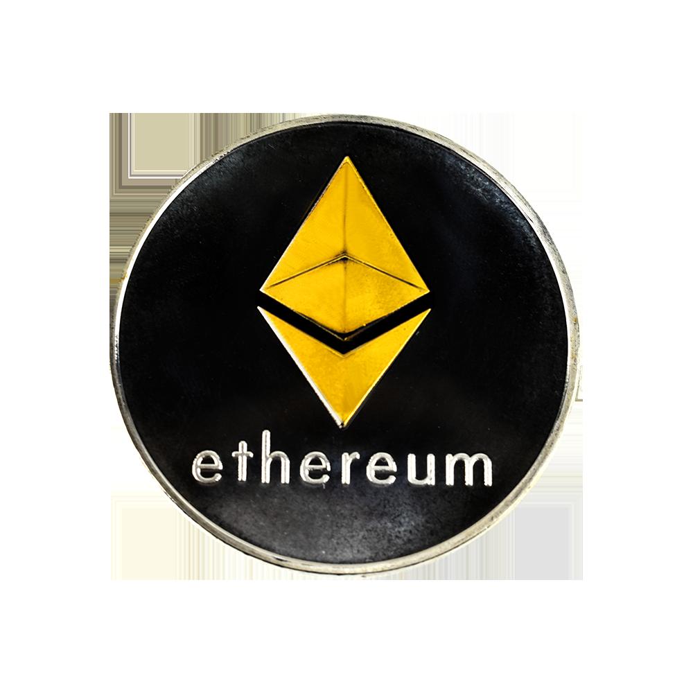 Moneta kolekcjonerska Ethereum Srebrno Złota