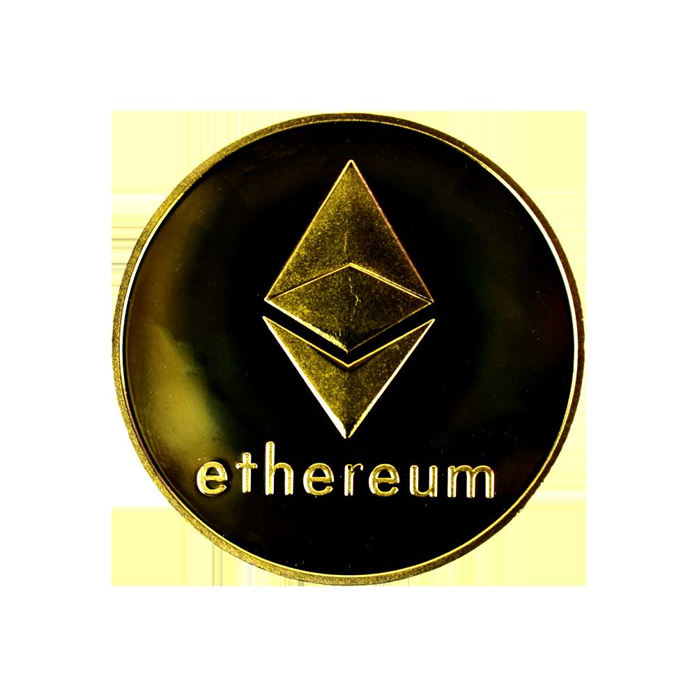 Zestaw 10 sztuk moneta kolekcjonerska Ethereum złota