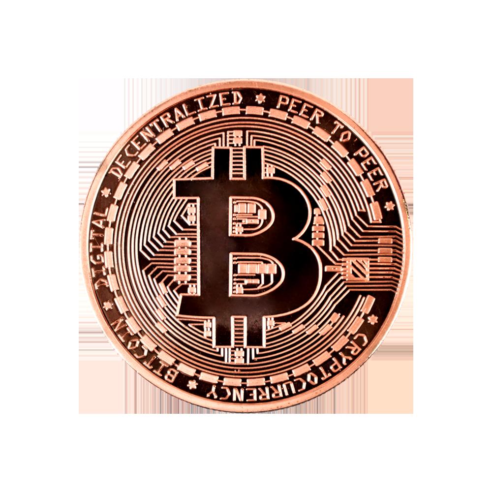 Ten collectors coins Bitcoin bronze