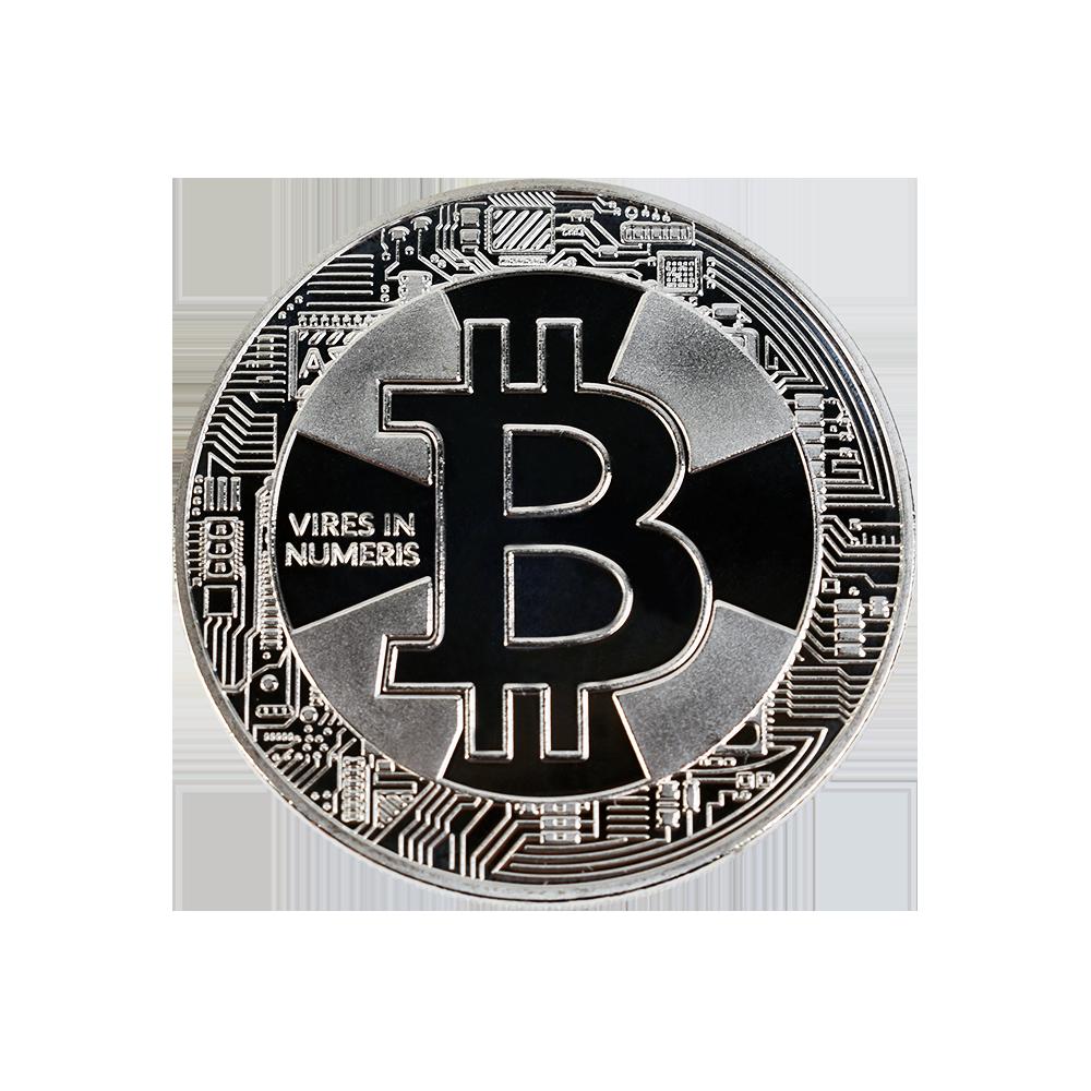 Bitcoin Cross Collector coin silver