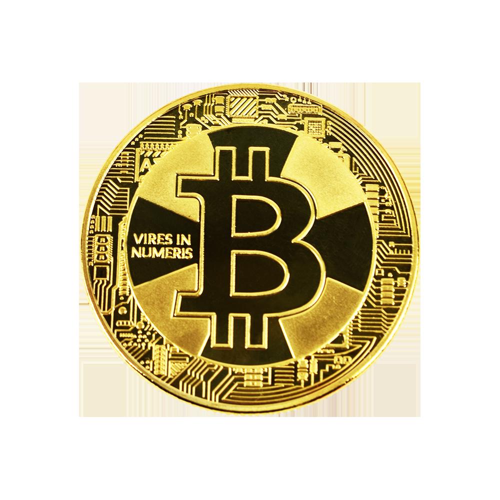 Moneta kolekcjonerska Bitcoin Srebrno Złota