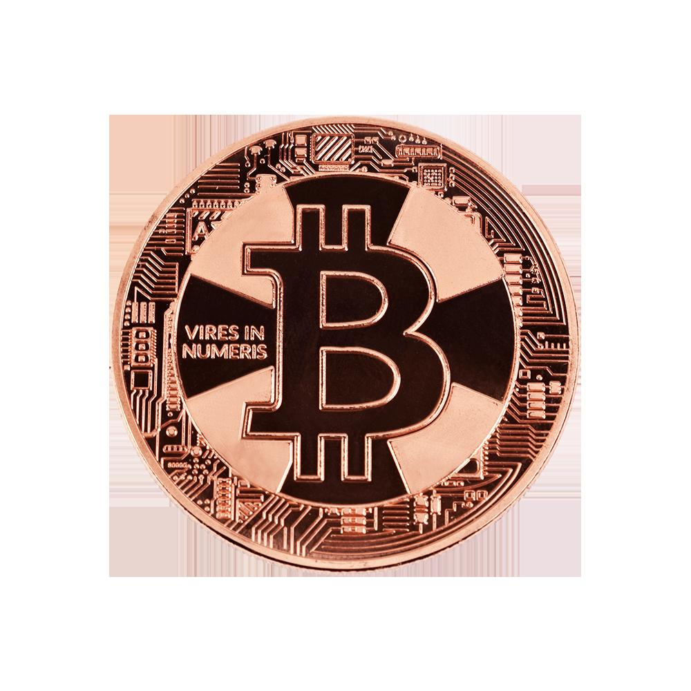 Moneta kolekcjonerska Bitcoin Brązowa Krzyż