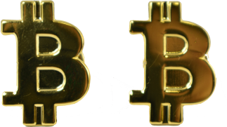 Gold Bitcoin Pin