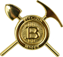 Gold Bitcoin Miner Pin