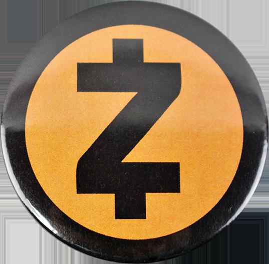 Przypinka aluminiowa Zcash