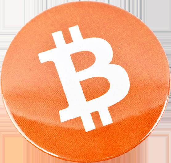 Przypinka aluminiowa Bitcoin