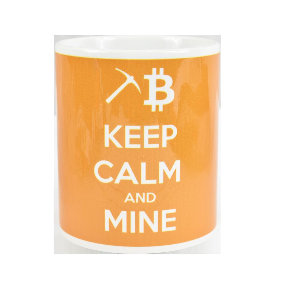 Kubek Bitcoin Keep calm and mine