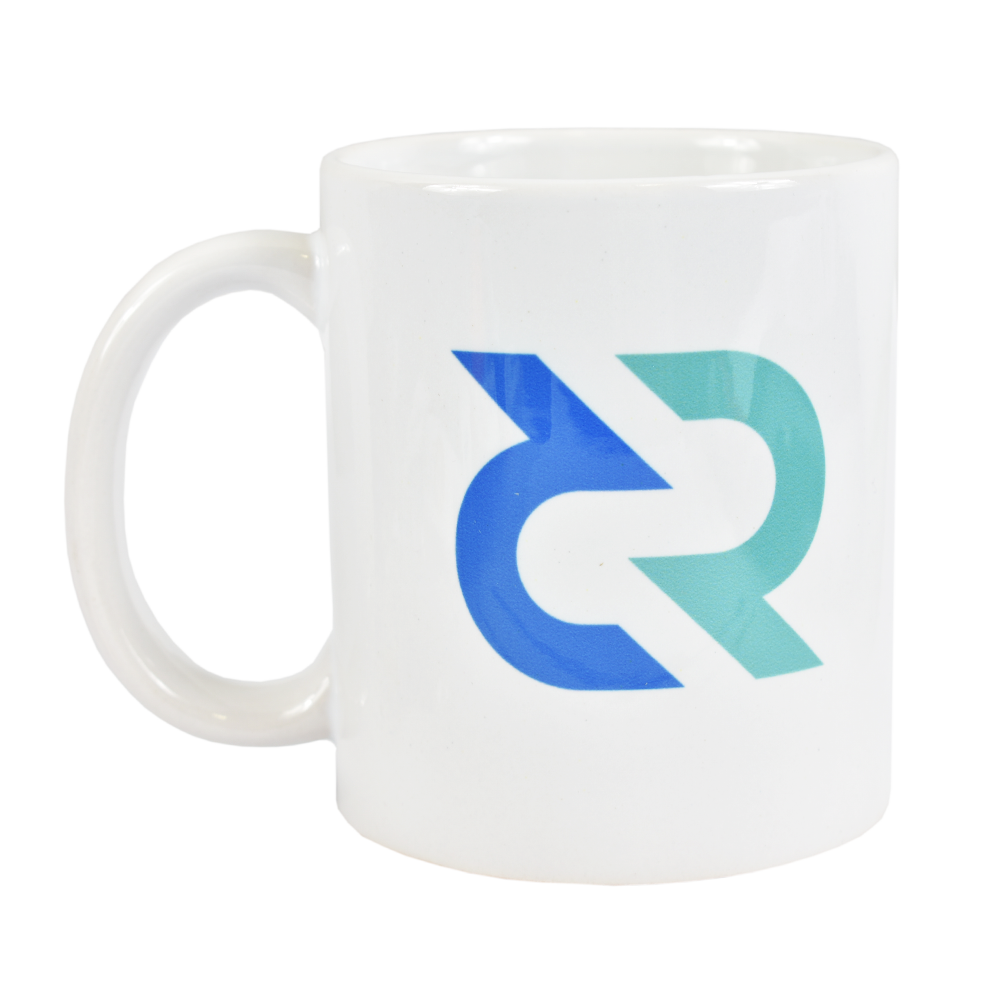 Ceramic mug with Decred logo