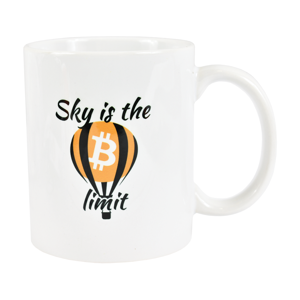 Kubek Bitcoin Sky is the limit