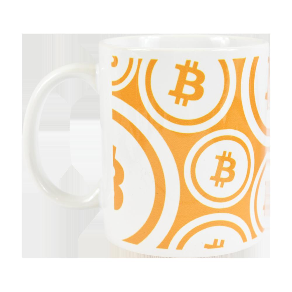 Ceramic mug with Bitcoin logo