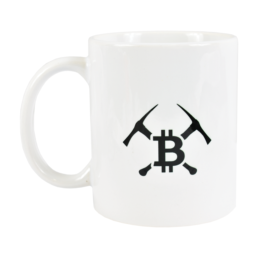 Ceramic mug with Bitcoin Miner logo