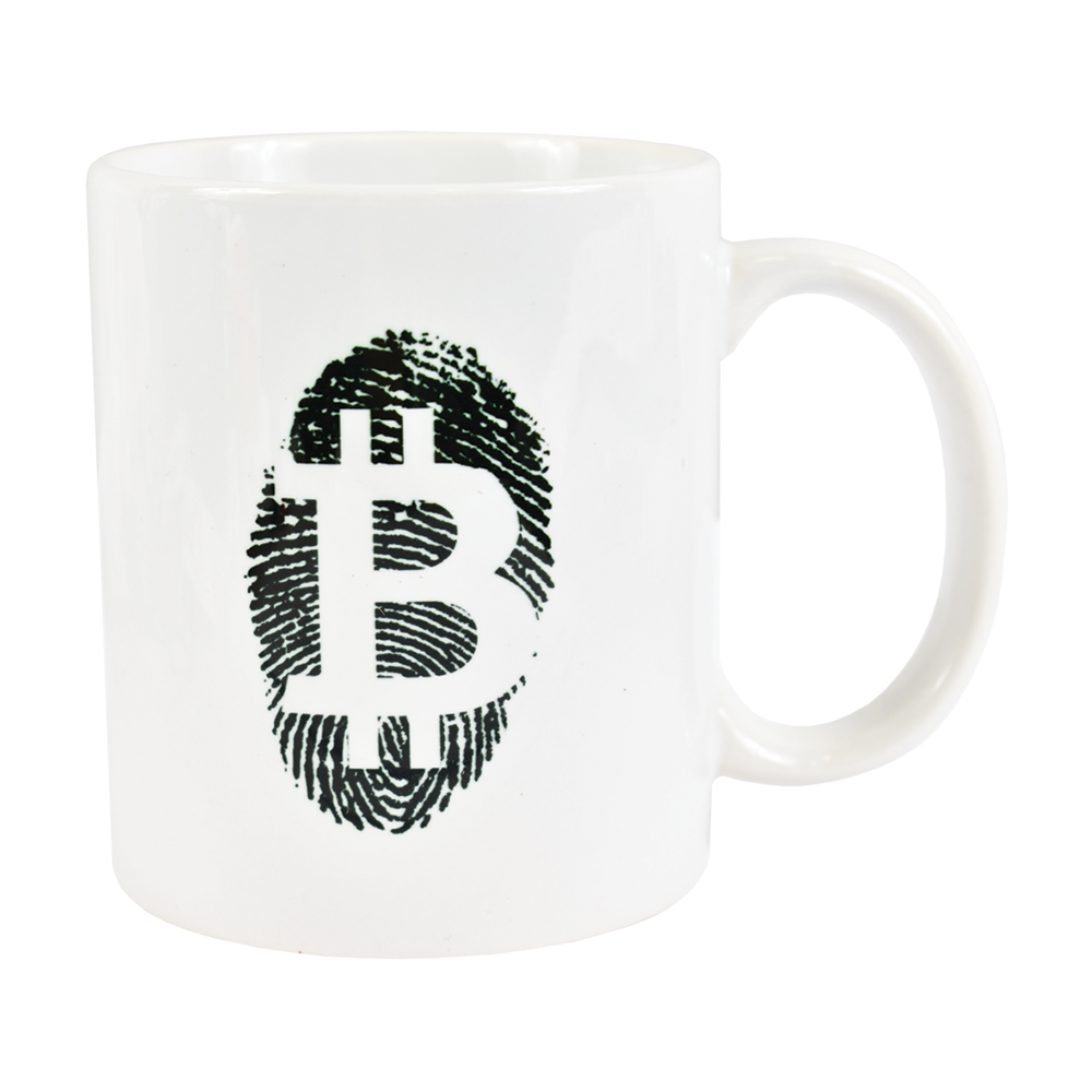 Ceramic mug with Bitcoin Fingerprint logo