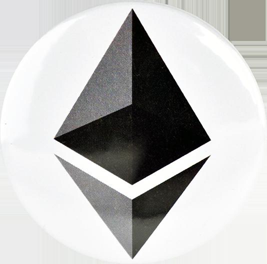 Przypinka aluminiowa Ethereum