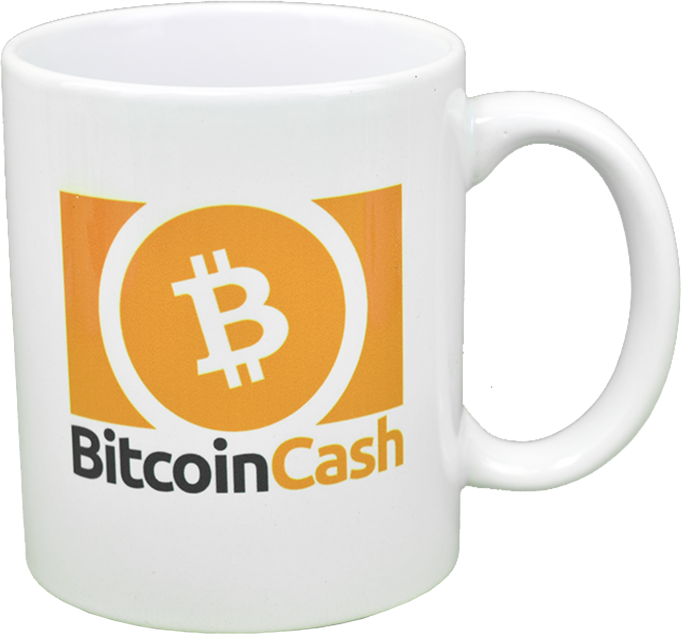 Ceramic mug with Bitcoin Cash logo