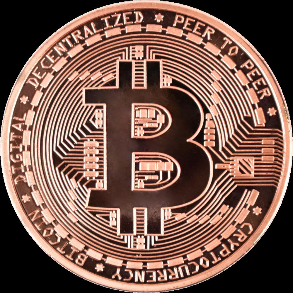 Moneta kolekcjonerska Bitcoin brązowa Zestaw