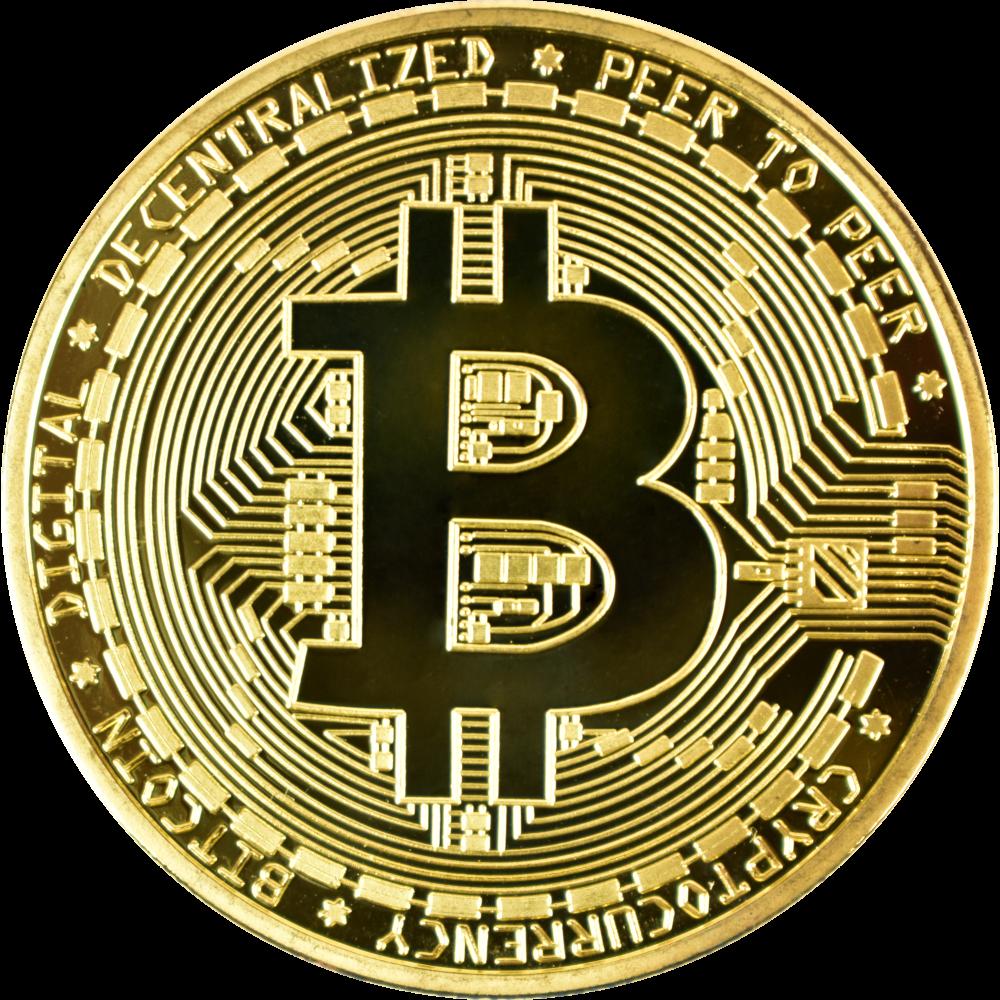 Moneta kolekcjonerska Bitcoin Złota Zestaw