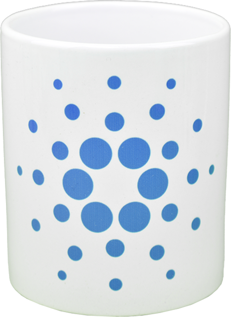 Ceramic mug with Cardano logo