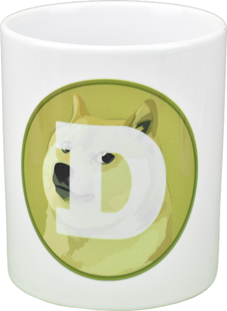 Ceramic mug with Dogecoin logo