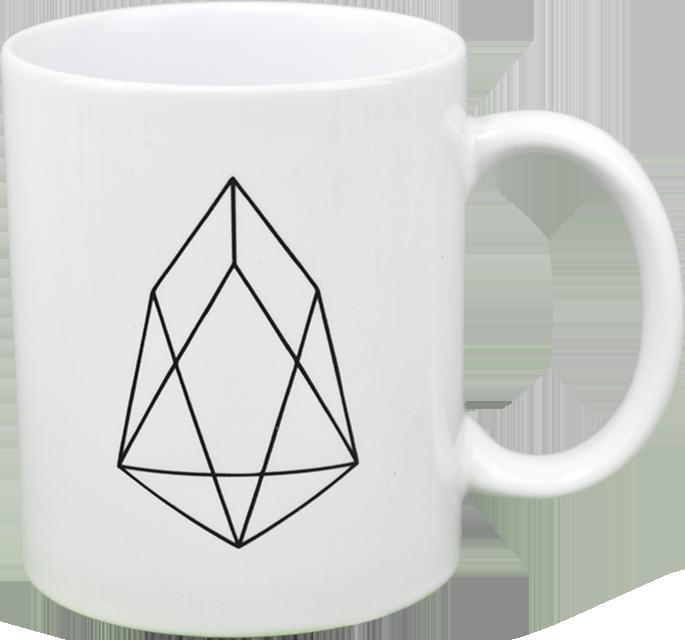 Ceramic mug with EOS  logo