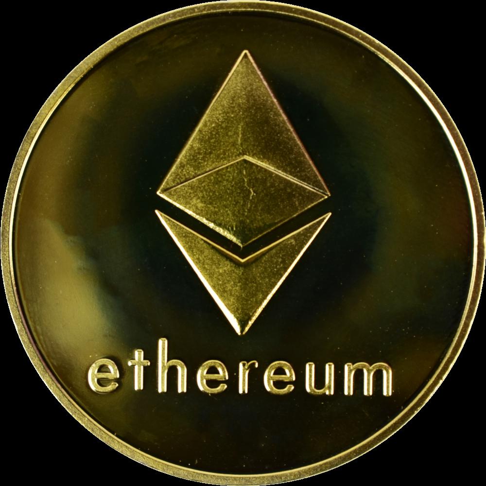 Moneta kolekcjonerska Ethereum Złota Zestaw