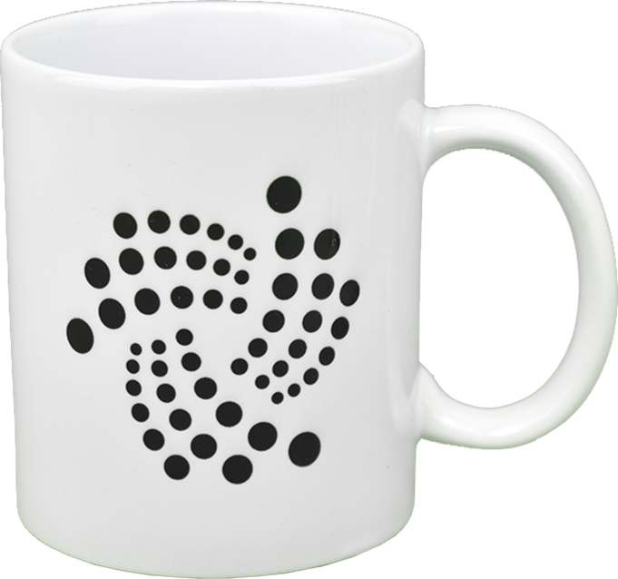 Ceramic mug with IOTA  logo