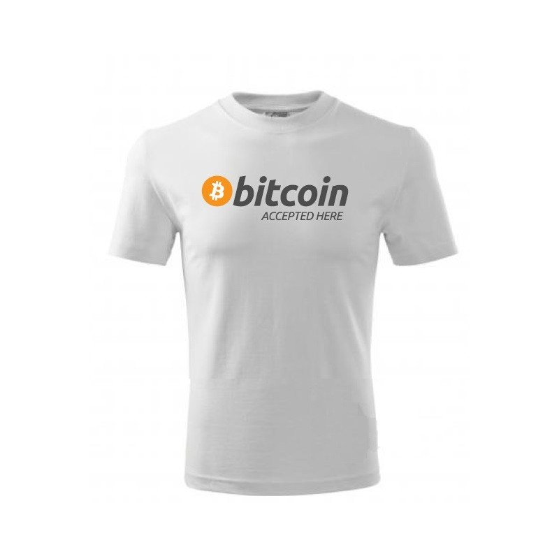 T-shirt Bitcoin Accepted here Cotton
