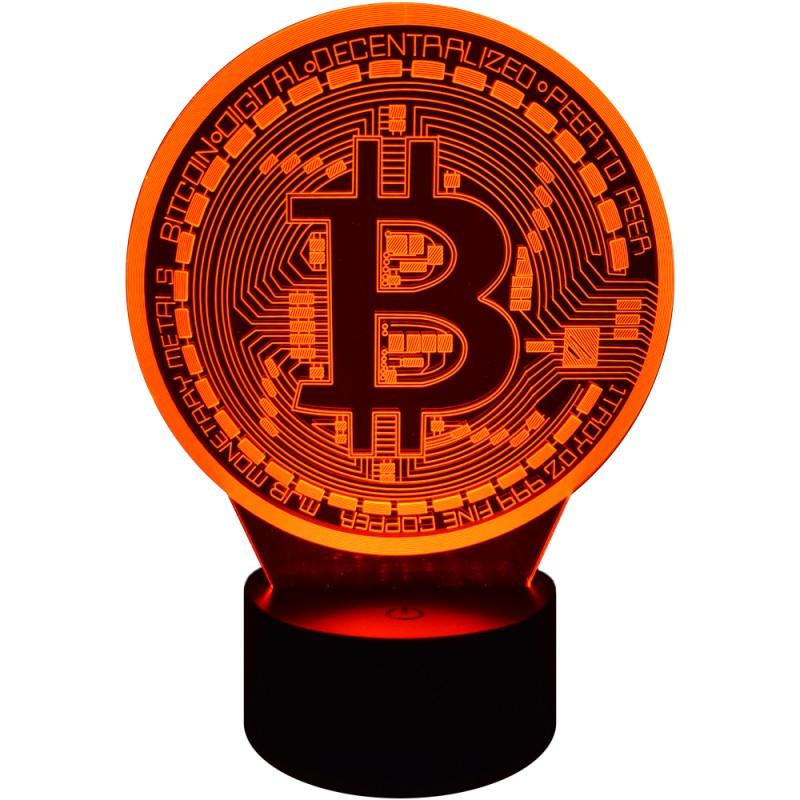 Lampka lampa na biurko Bitcoin 7 kolorów