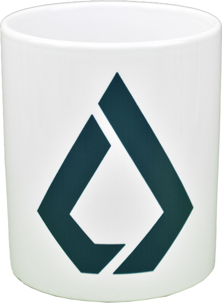 Ceramic mug with Lisk  logo