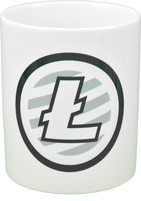 Ceramic mug with LITECOIN  logo
