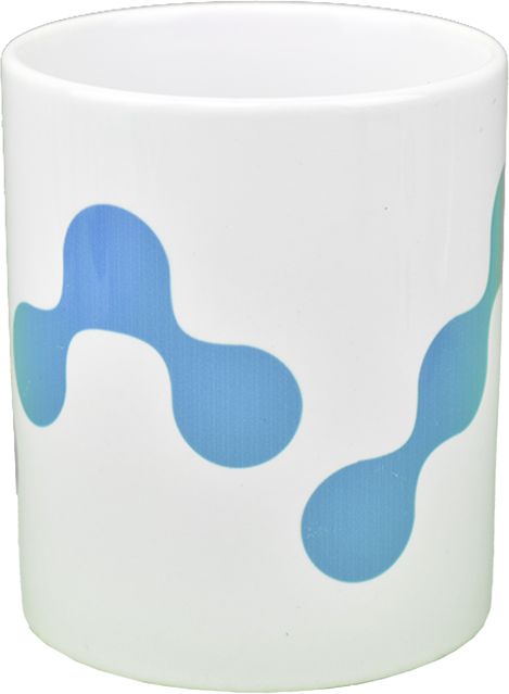 Ceramic mug with Nano  logo