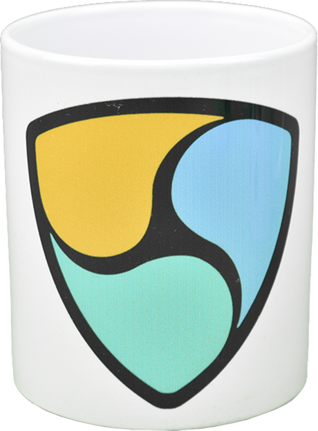 Ceramic mug with NEM  logo