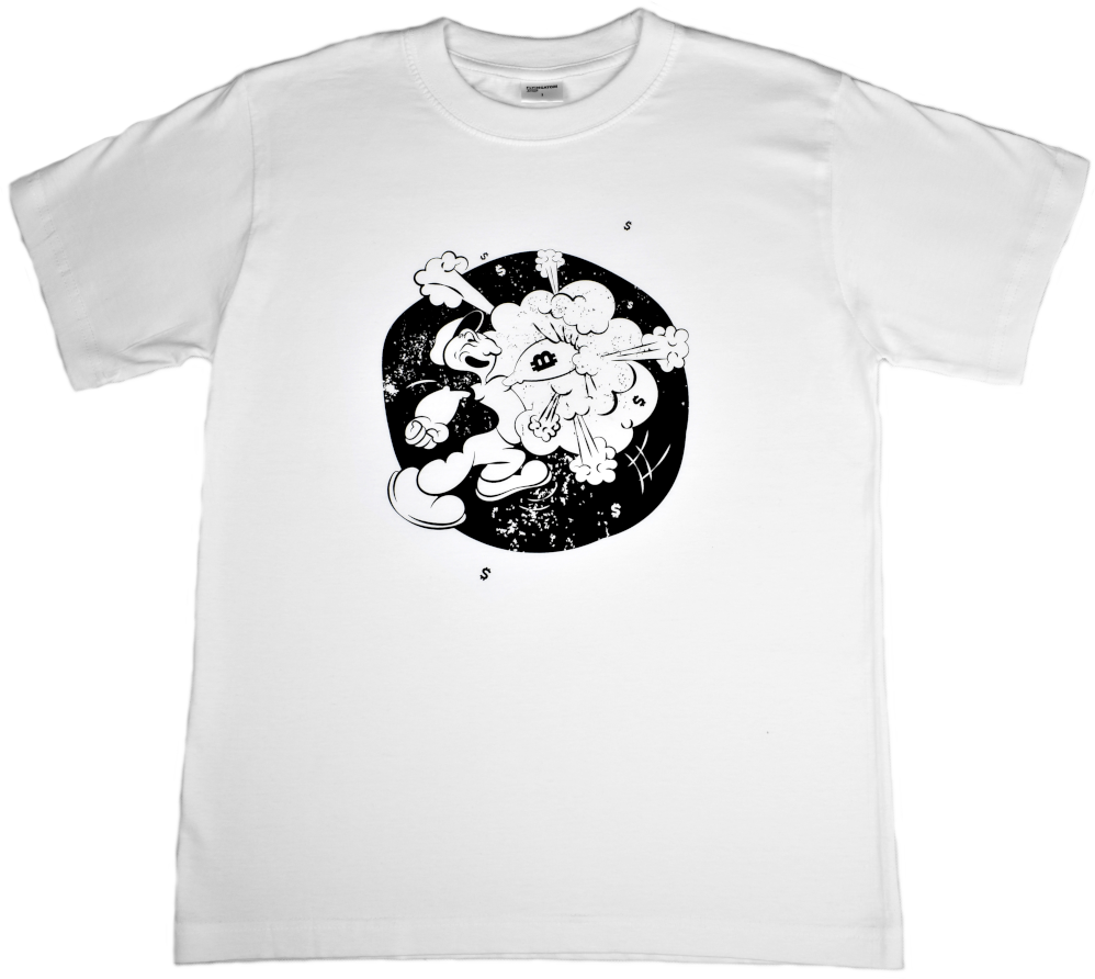 Koszulka Bitcoin Popeye Bawełna
